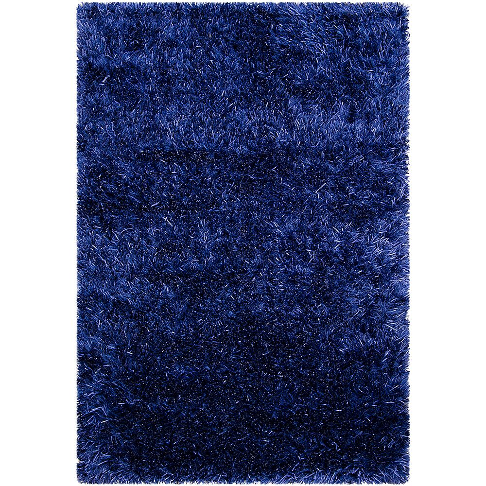 Hand-Knotted Blue Area Rug Rug Size: 8'10