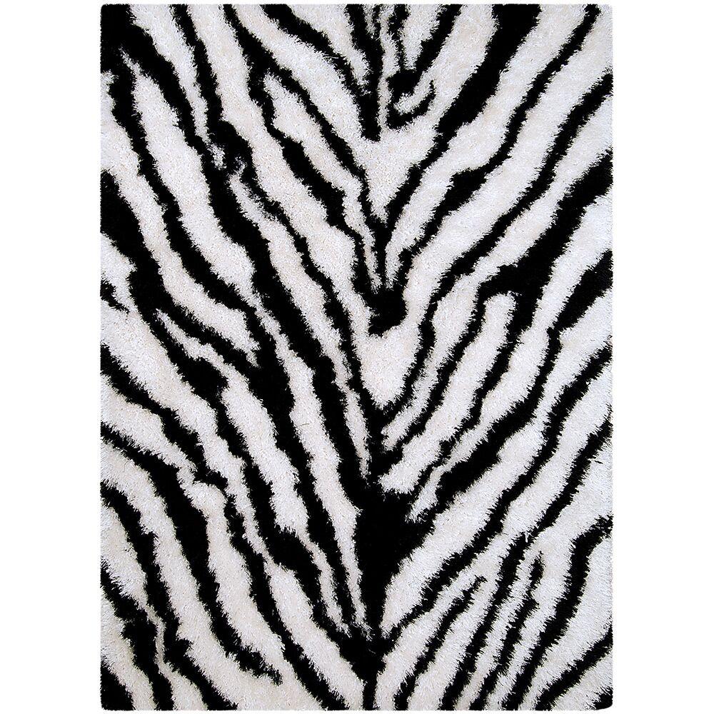 Zebra Area Rug Rug Size: Rectangle 4'11
