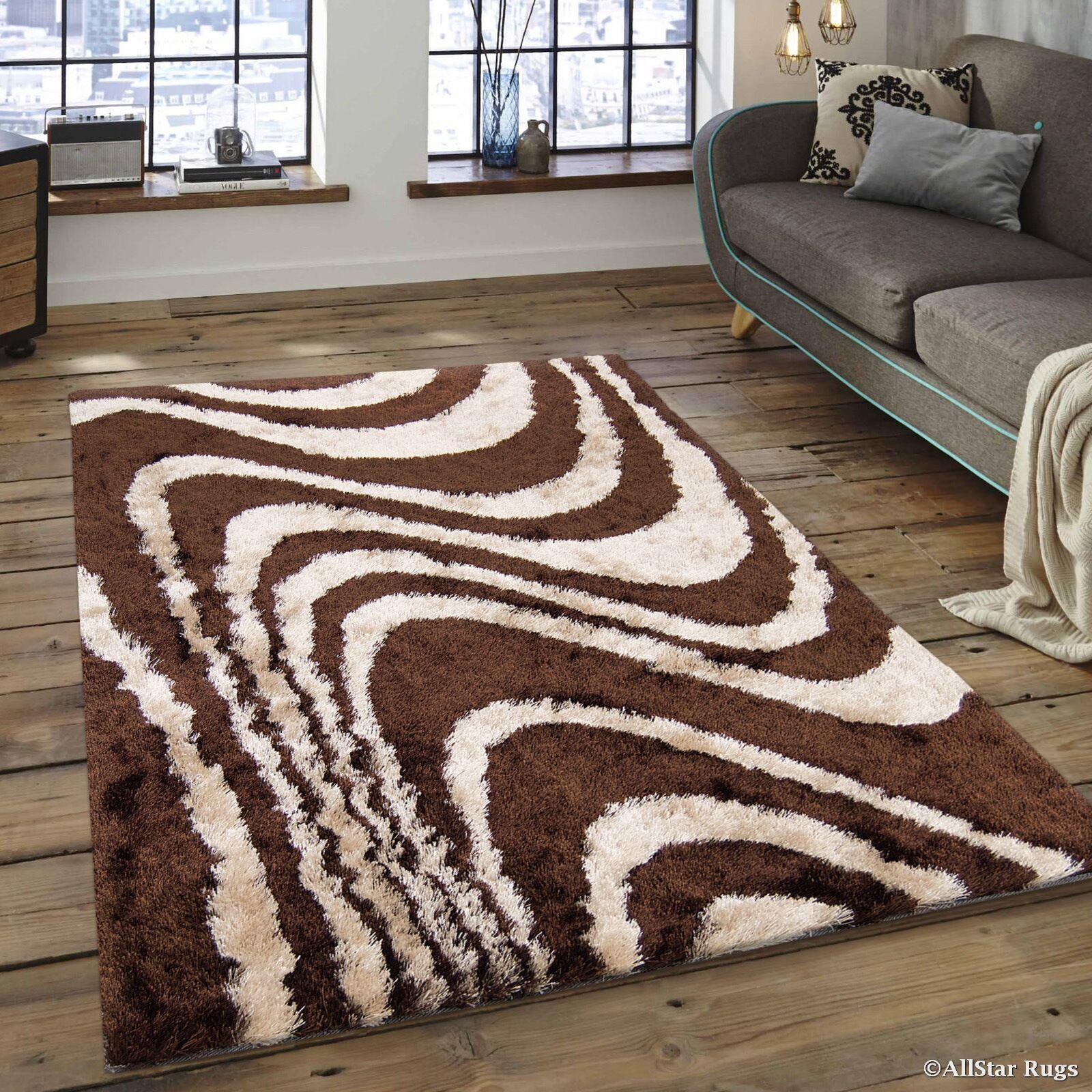 Hand-Tufted Brown/Beige Area Rug Rug Size: 4'11