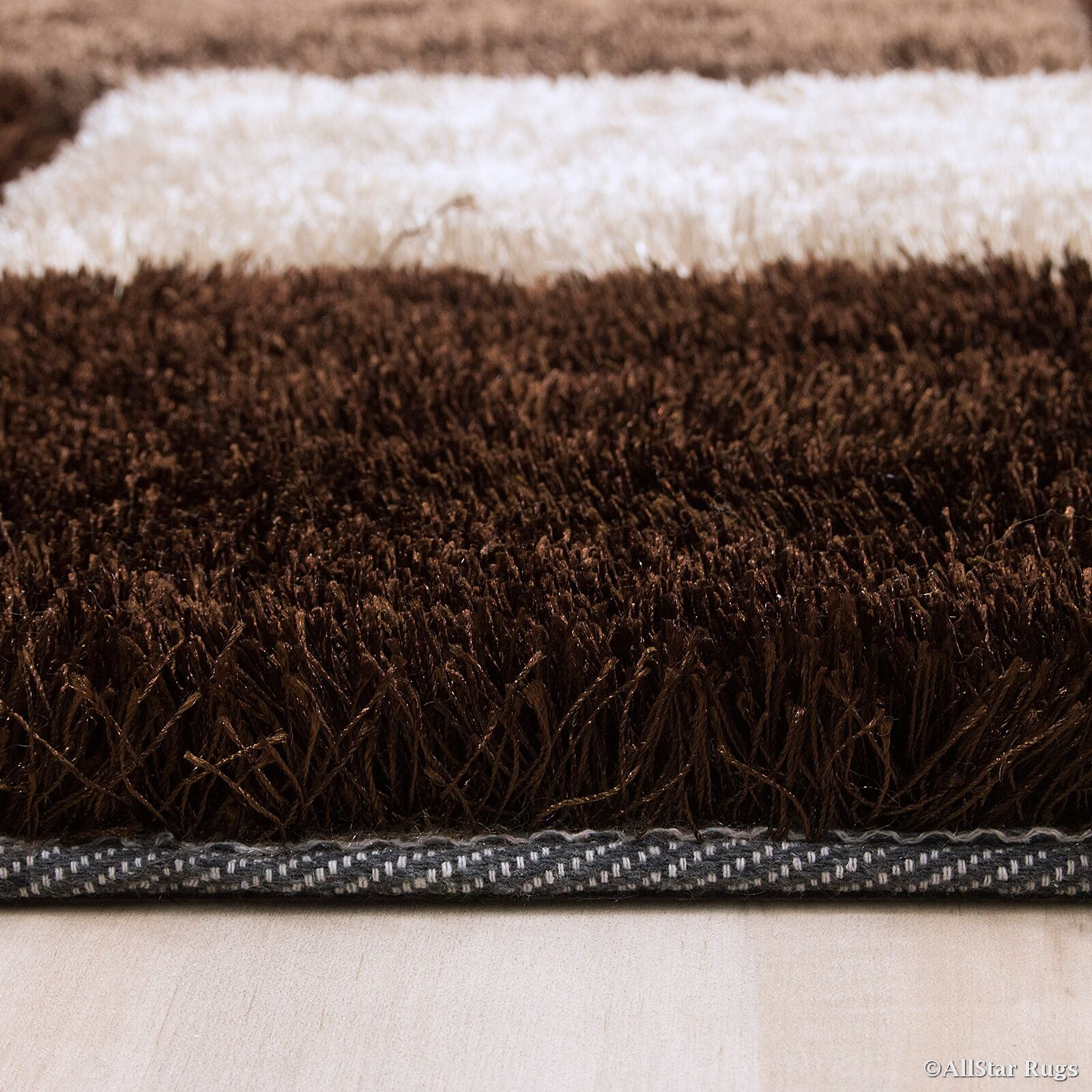 Hand-Tufted Brown/Ivory Area Rug Rug Size: 4'11