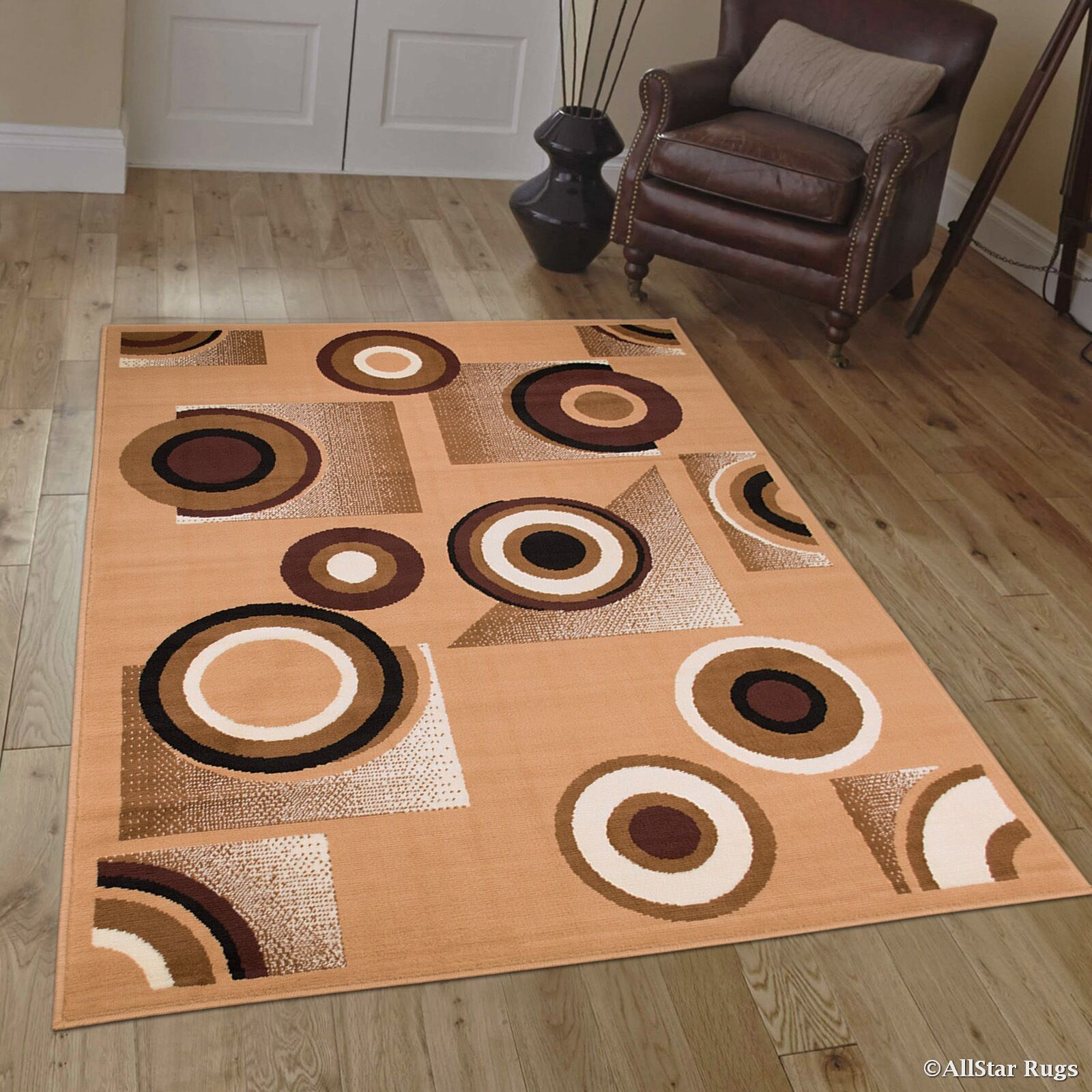 Hand-Woven Brown Area Rug