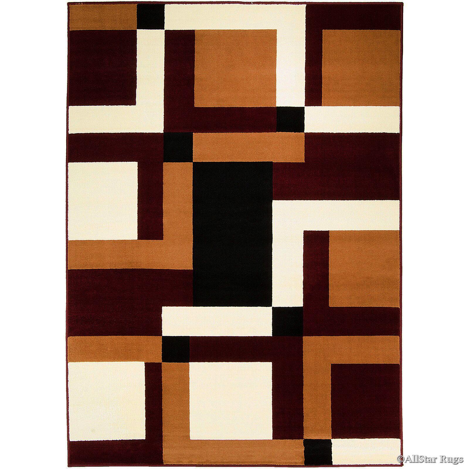 Hand-Woven Burgundy/Brown Area Rug Rug Size: 7'7