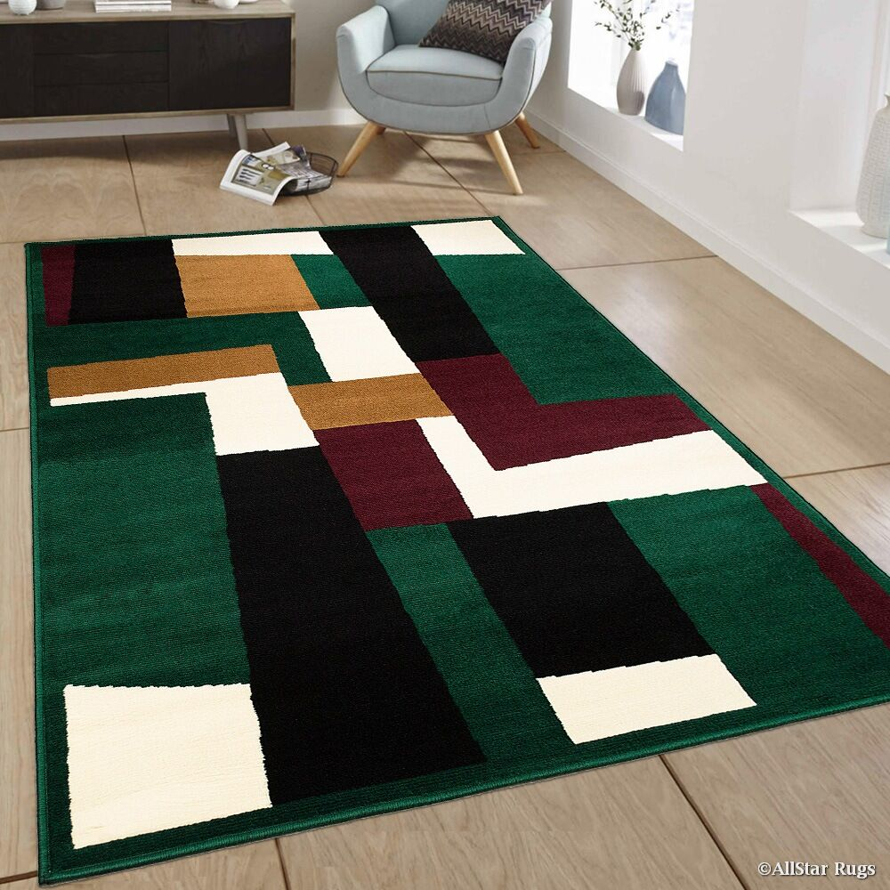 Hand-Woven Green Area Rug Rug Size: 7'7