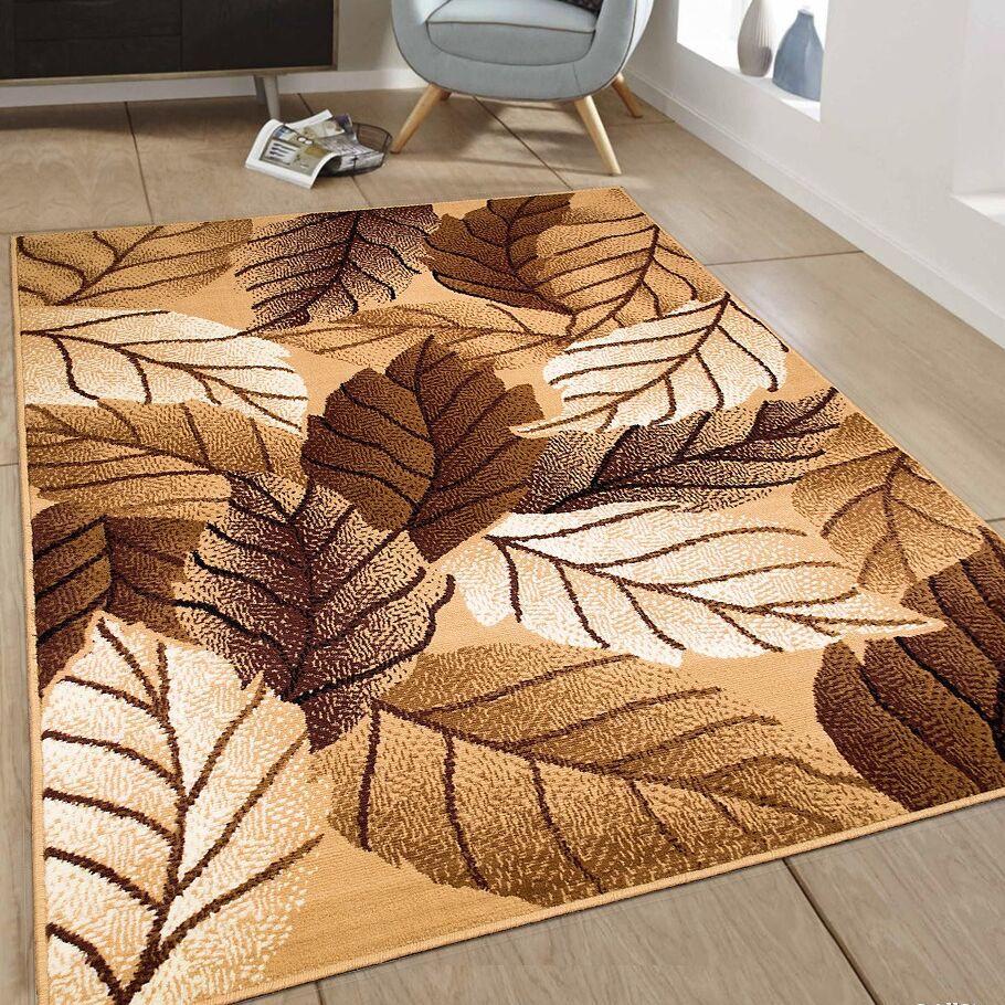 Hand-Woven Brown Area Rug Rug Size: 7'7