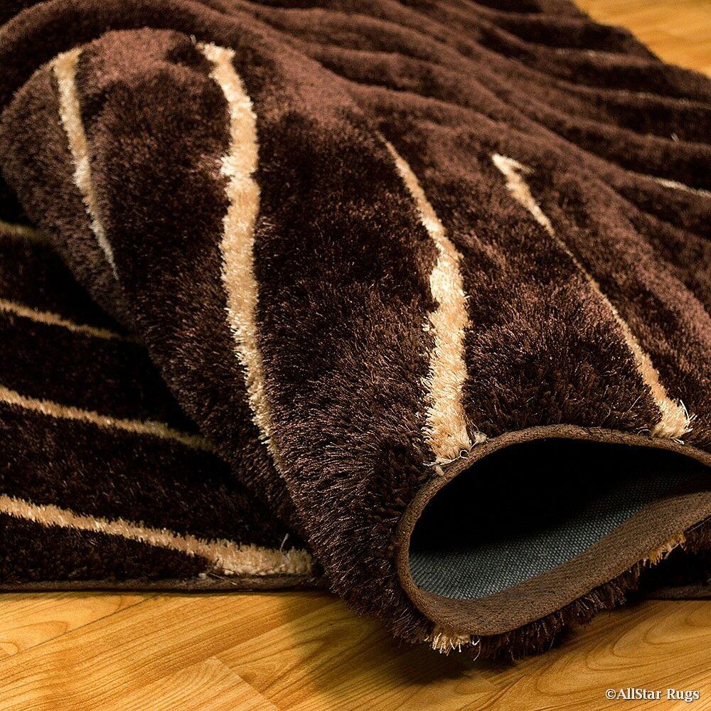 Hand-Tufted Chocolate Area Rug Rug Size: 7'6