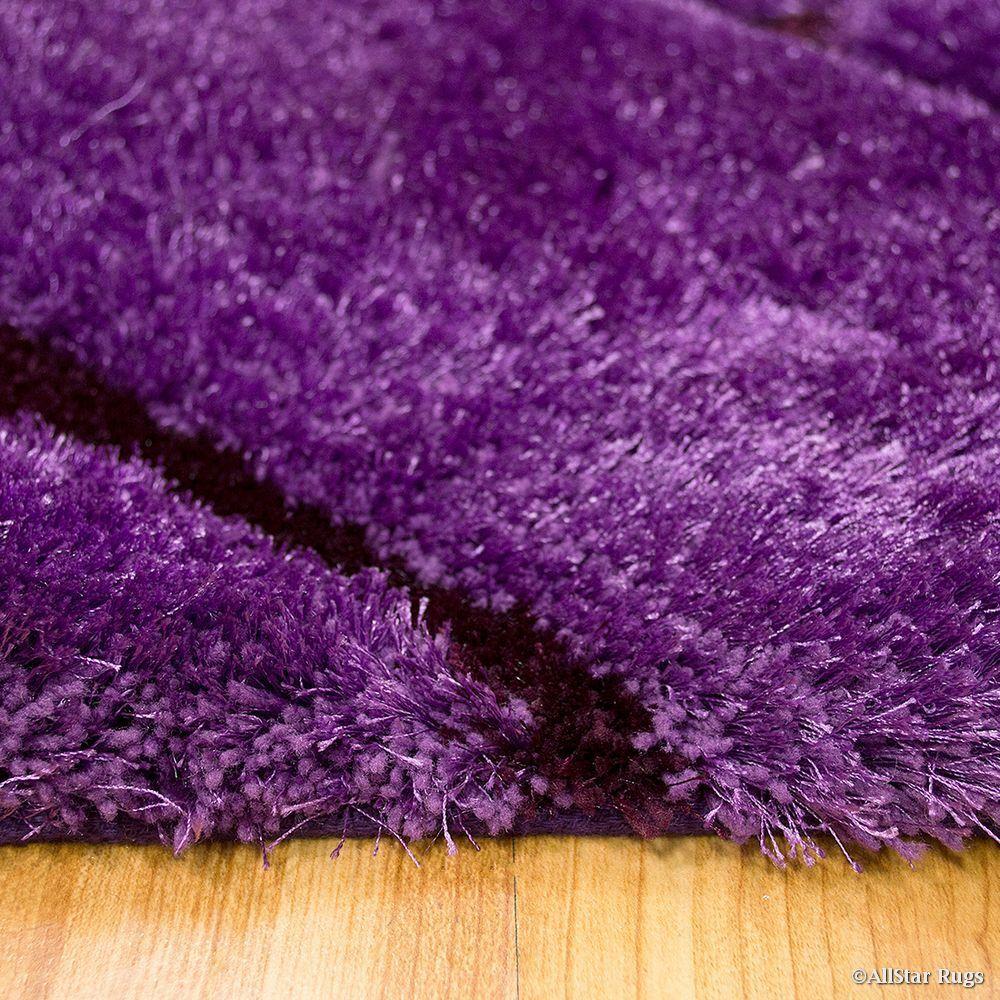 Hand-Tufted Purple Area Rug Rug Size: 7'6