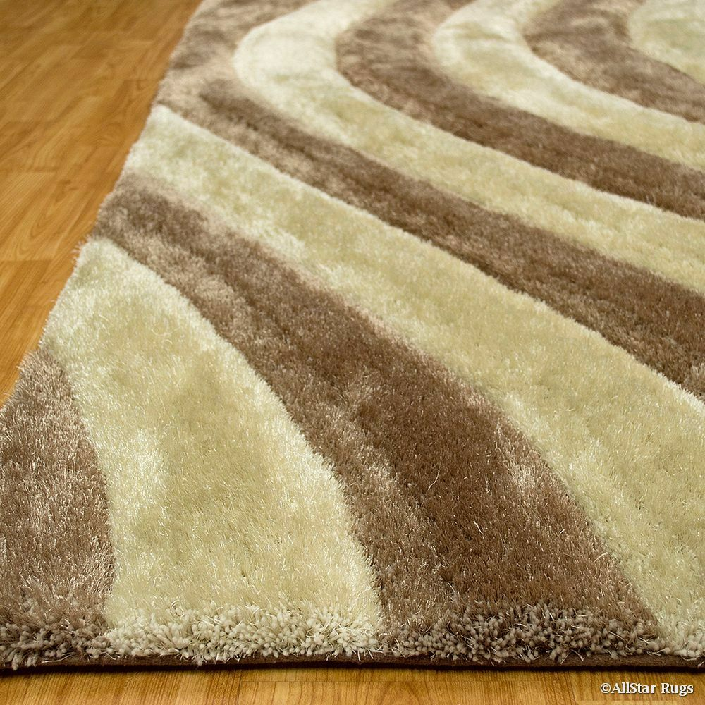 Hand-Tufted Champagne Area Rug Rug Size: 7'6