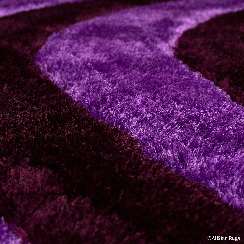 Hand-Tufted Lilac Area Rug Rug Size: 7'6