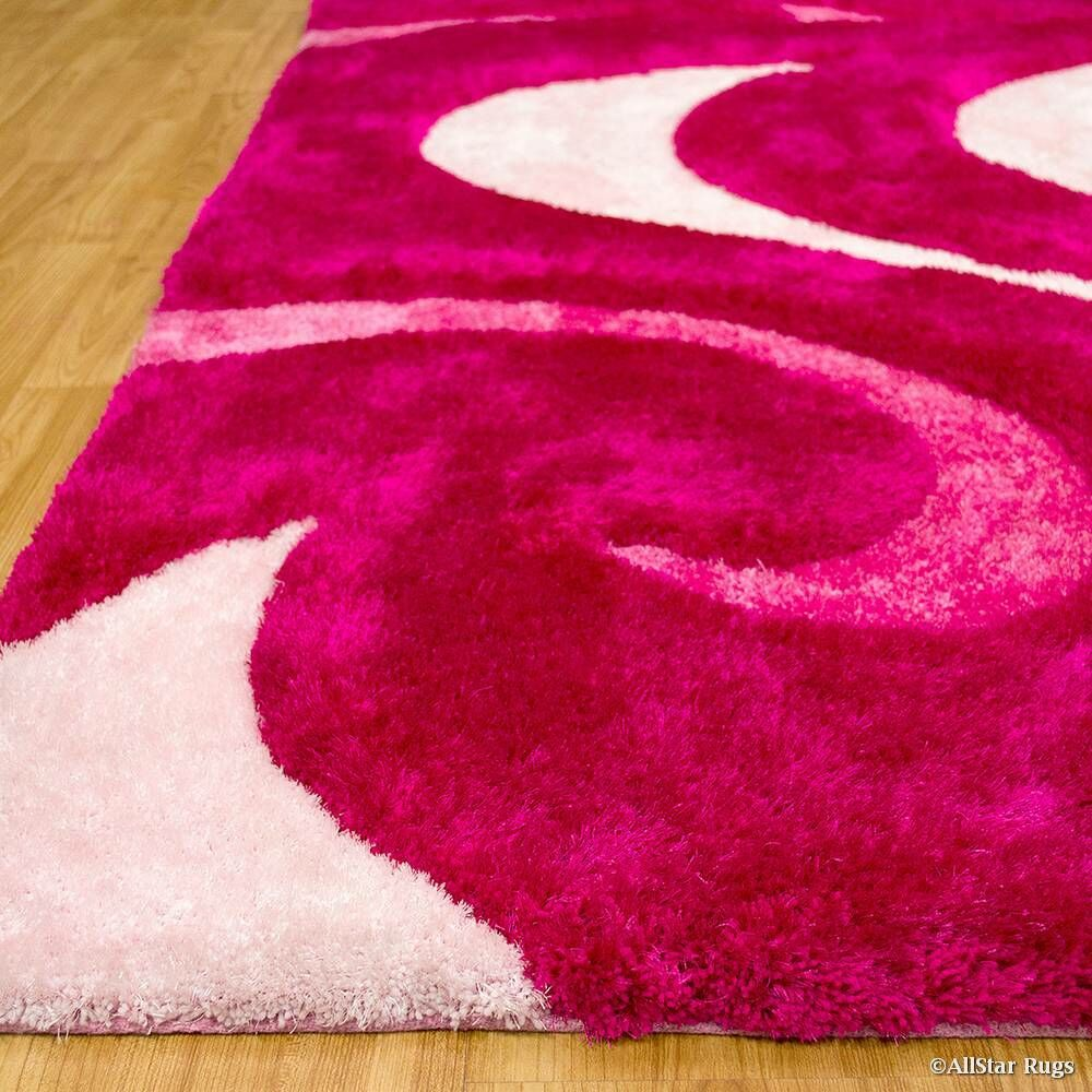 Hand-Tufted Pink Area Rug Rug Size: 5' x 7'