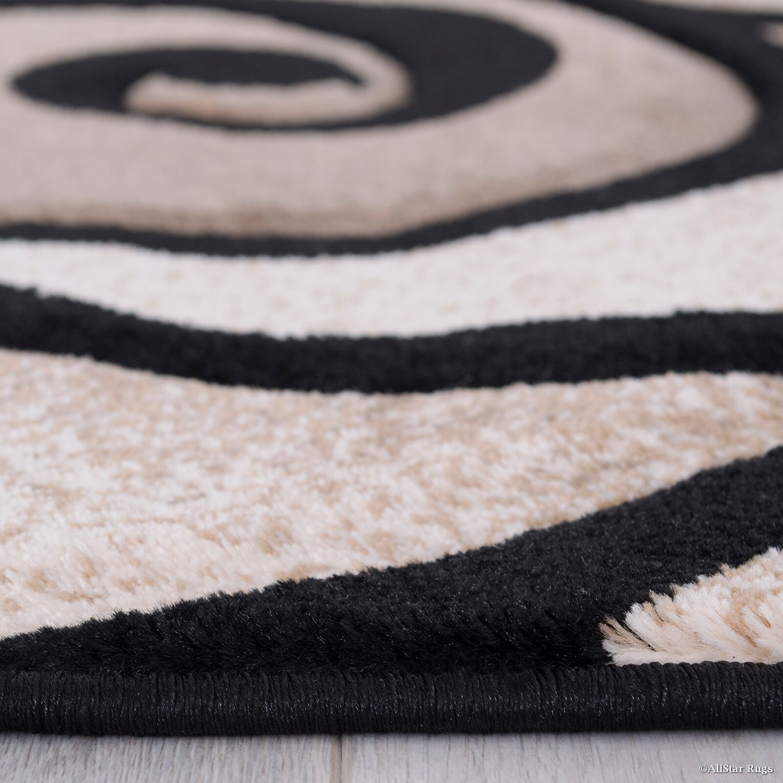 Evolution Swirl Black/Brown Area Rug Rug Size: Rectangle 5'2