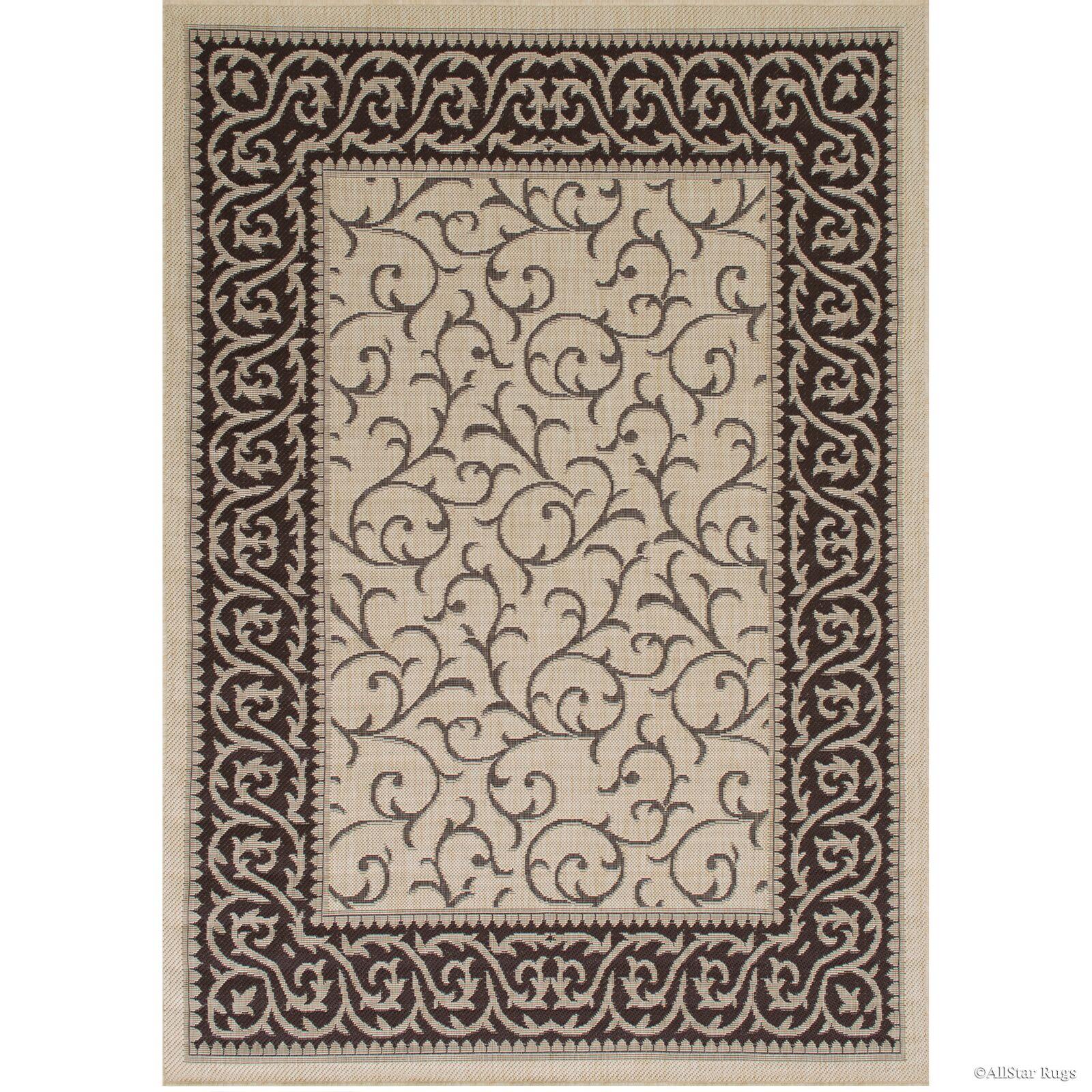 Morales All-Weather Floral Sage Beige Indoor/Outdoor Area Rug Rug Size: 5' x 7'