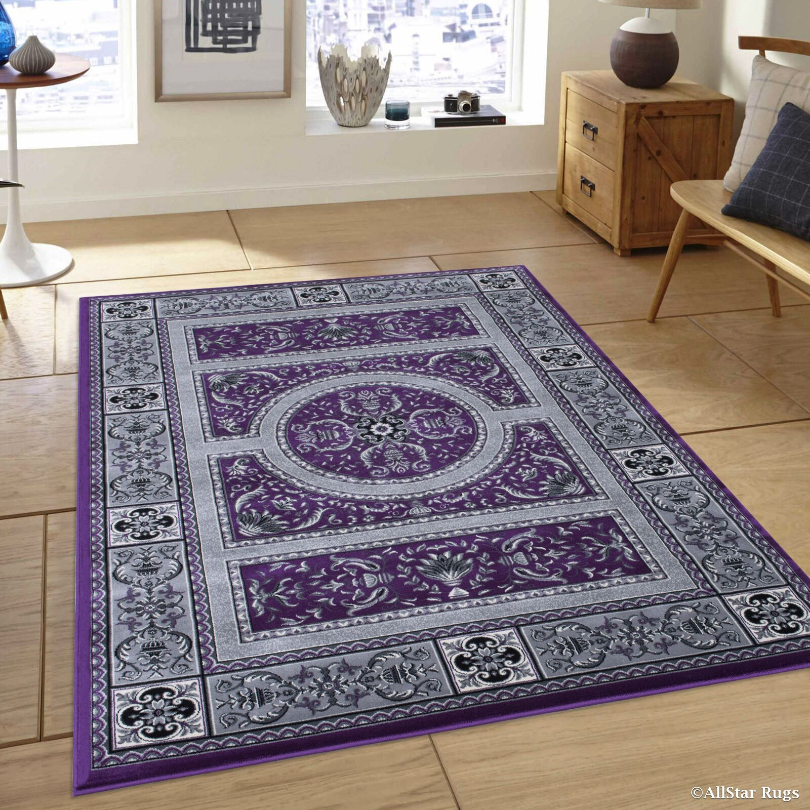Hubbard High-End Ultra-Dense Thick Woven Floral Raspberry Area Rug Rug Size: 6'7