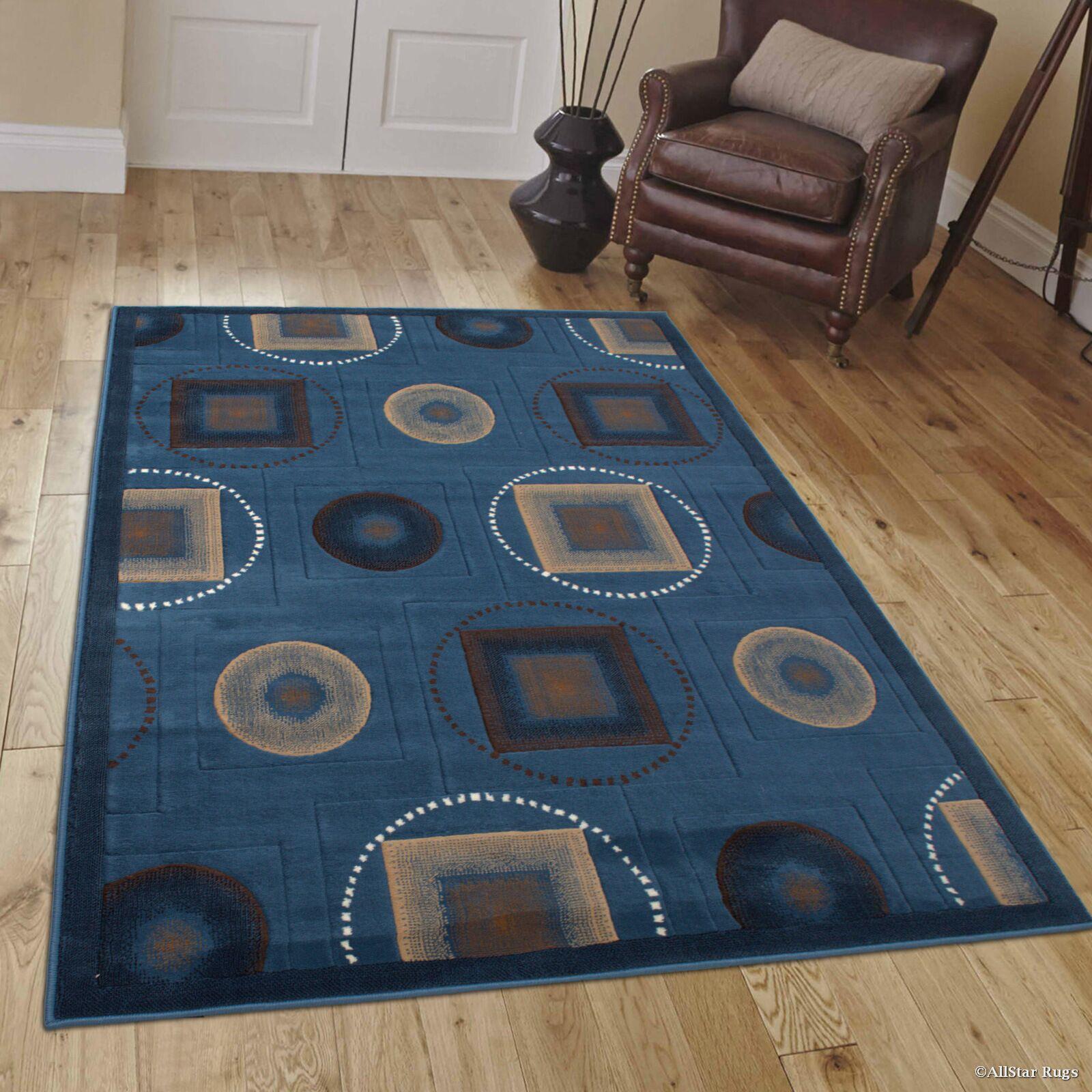 Karsten Blue Area Rug Rug Size: 5'2