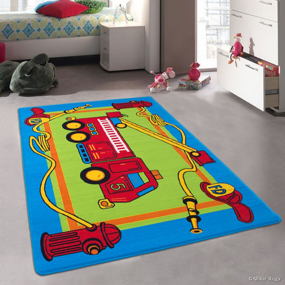 Amy Bright Blue Area Rug Rug Size: 4'11