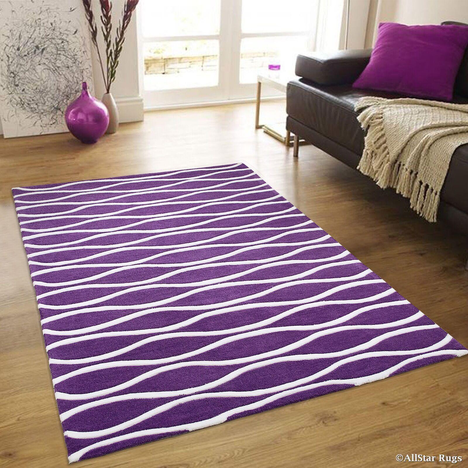 Keasler Purple Area Rug Rug Size: 4'11