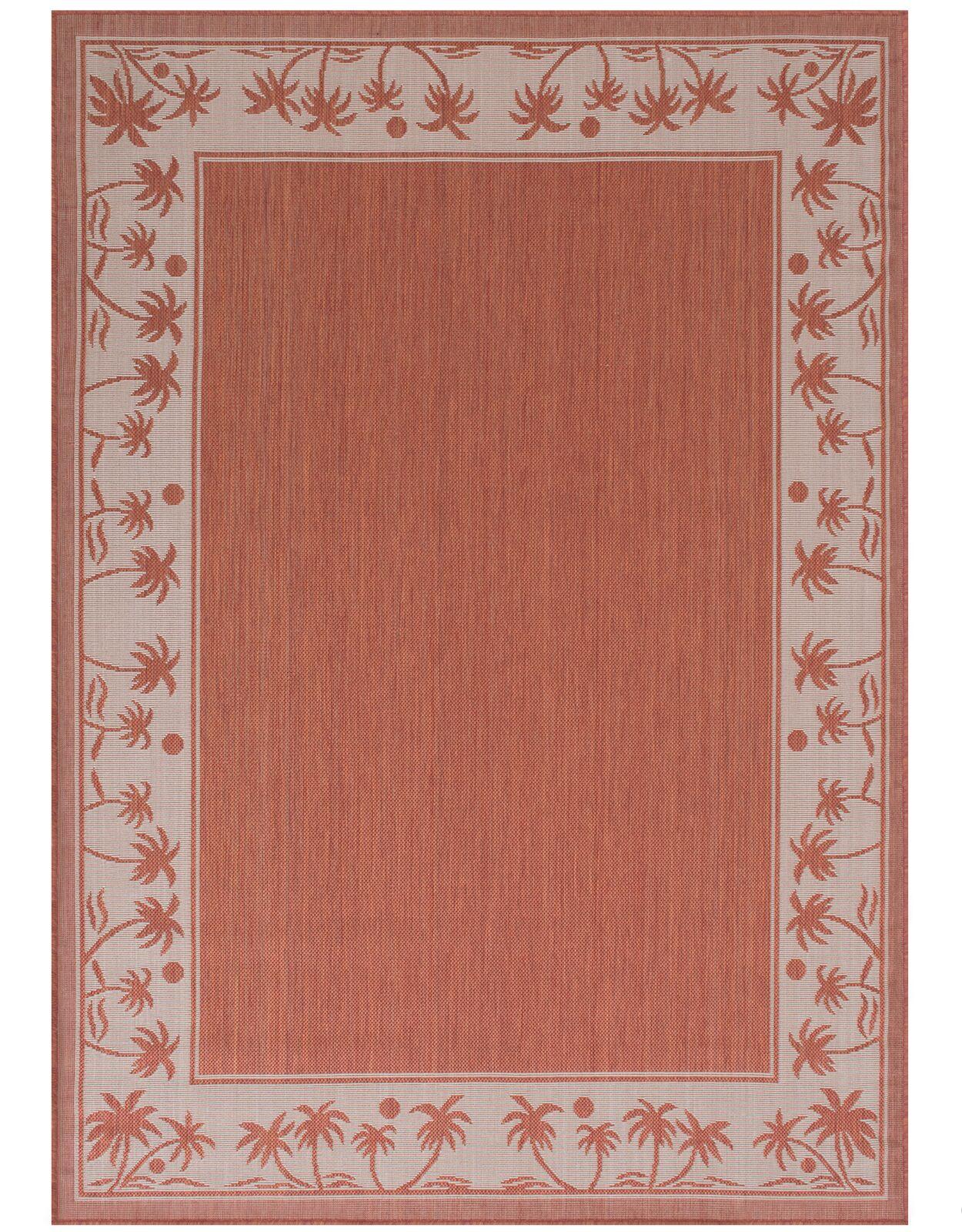 Granada Terracotta Indoor/Outdoor Area Rug Rug Size: 5' x 7'