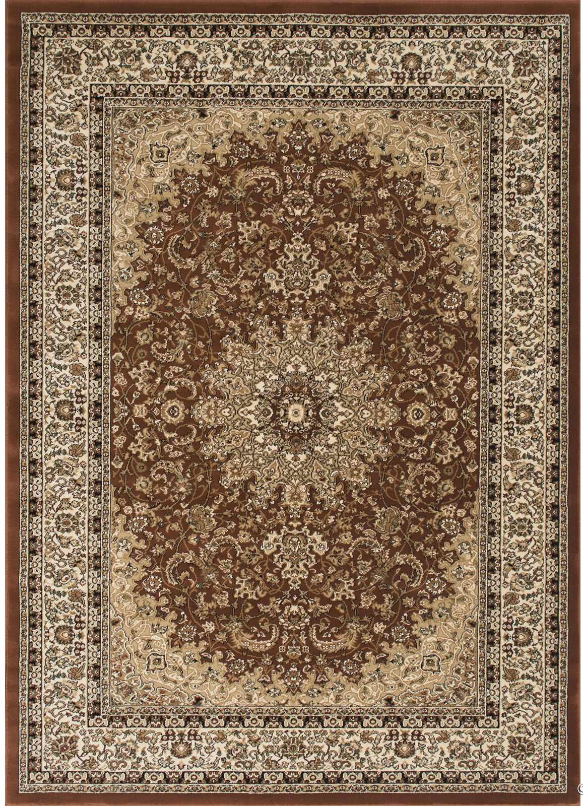 Arison Brown Area Rug Rug Size: Rectangle 5'3