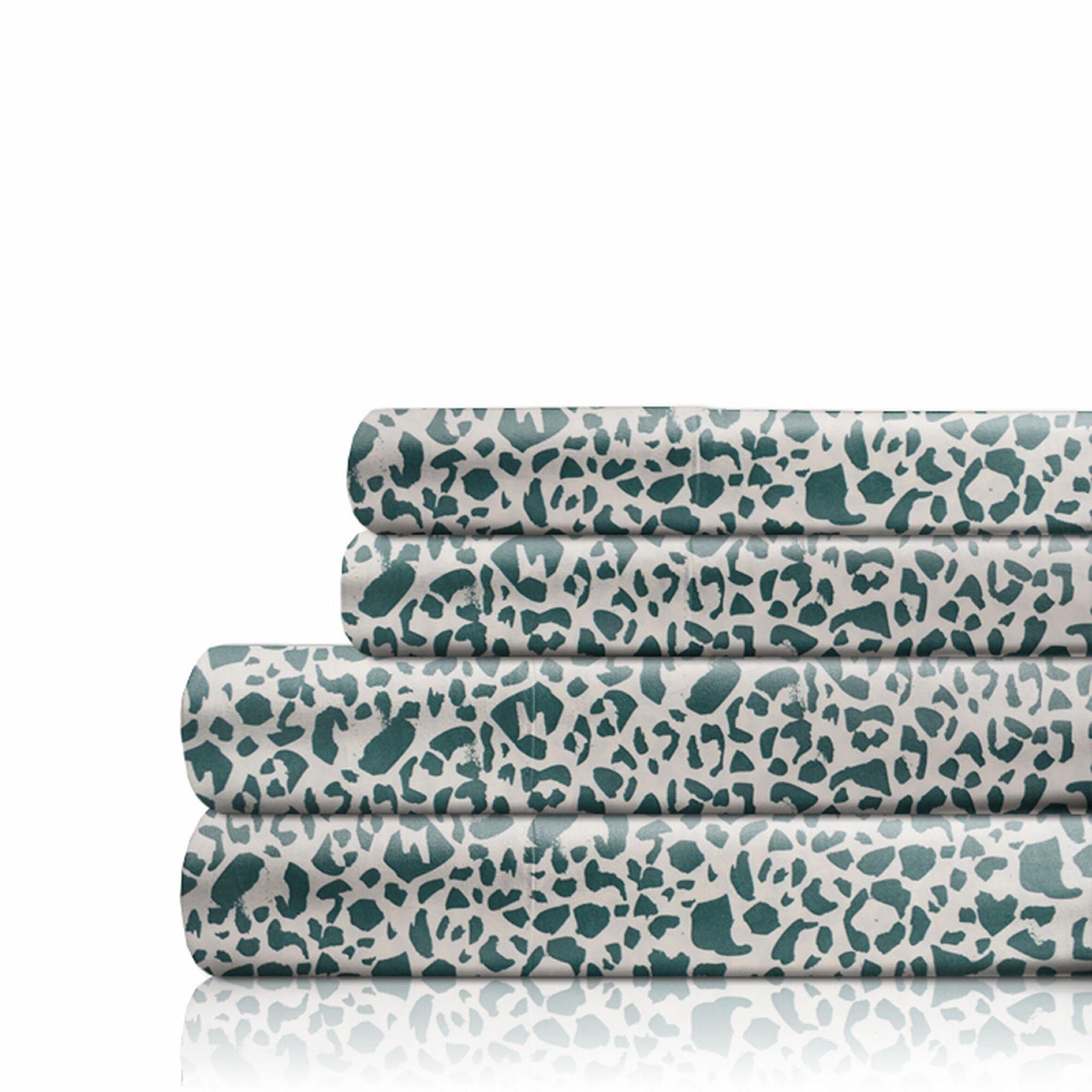 350 Thread Count 100% Cotton Sheet Set Size: California King, Color: Ocean Green