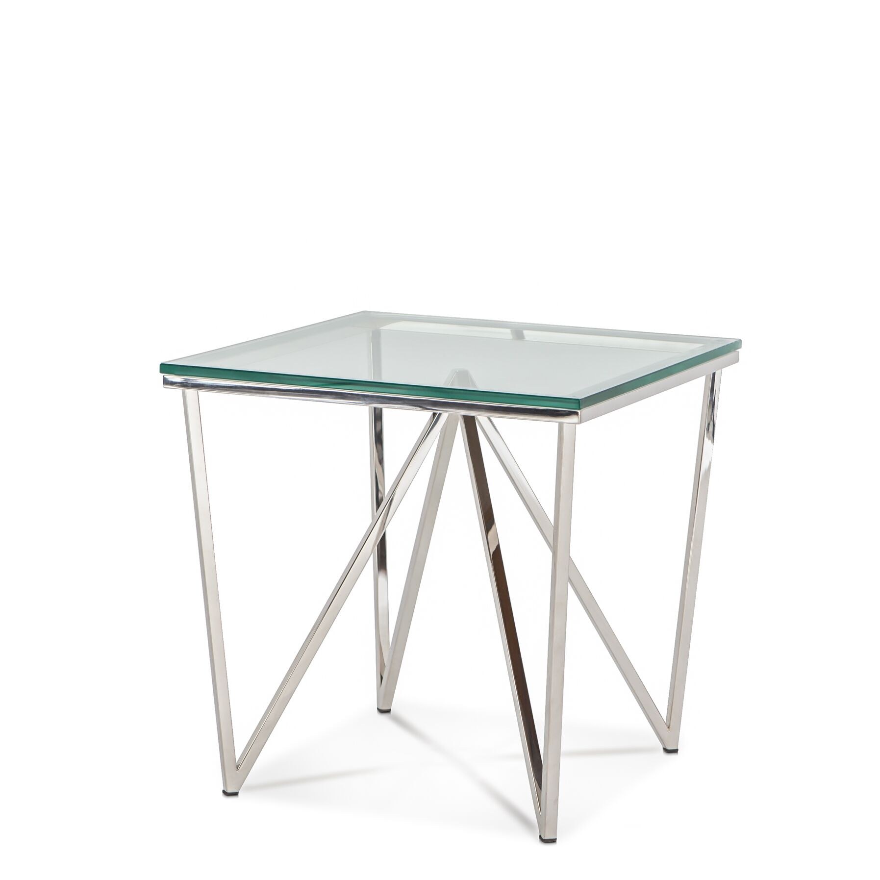 Shayla End Table Color: Brushed Stainless Steel