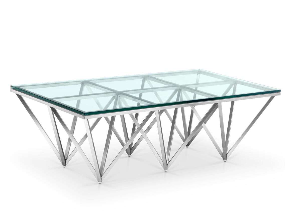 Shayla Coffee Table Color: Polished Stainless Steel, Size: 15