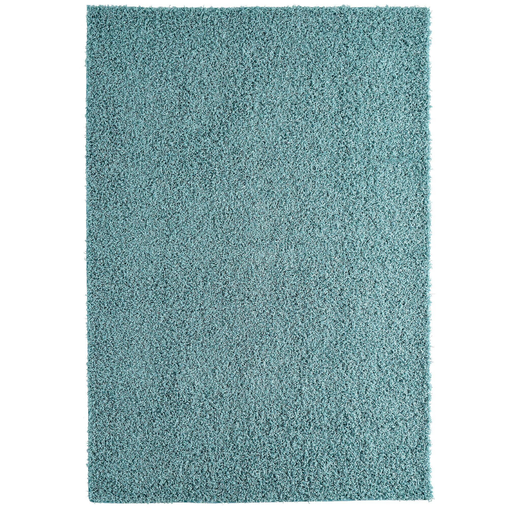 Shag-Ola Aqua Blue Area Rug Rug Size: 9' x 12'