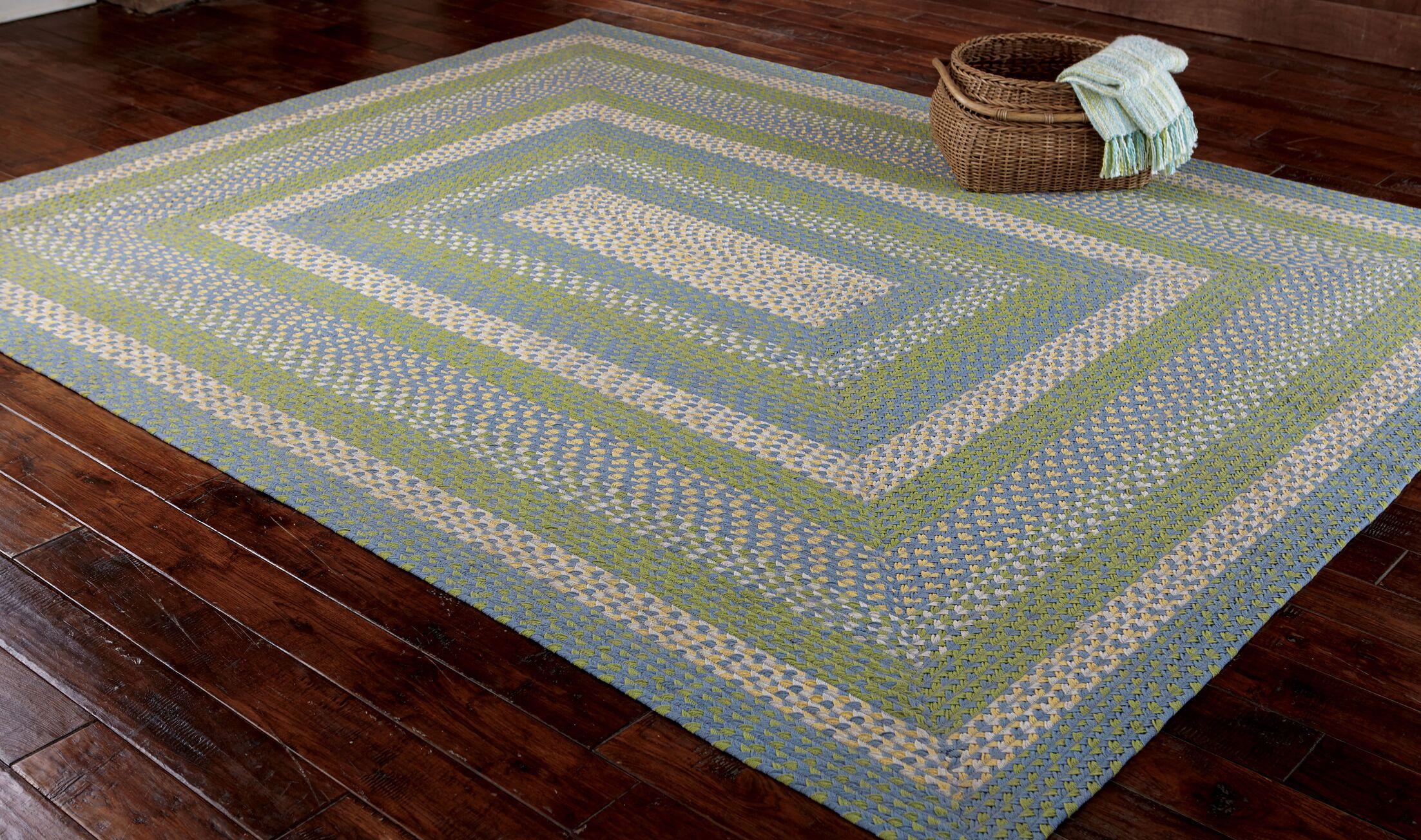 Sarasota Blue/Green Area Rug Rug Size: Rectangle 8' x 10'