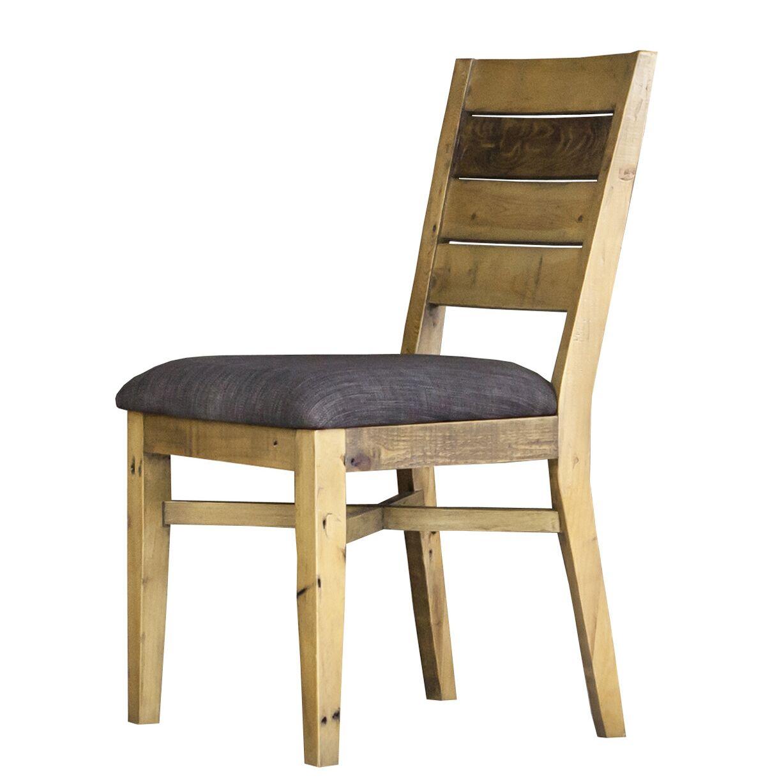 Langner Upholstered Dining Chair Upholstery Color: Slate Gray
