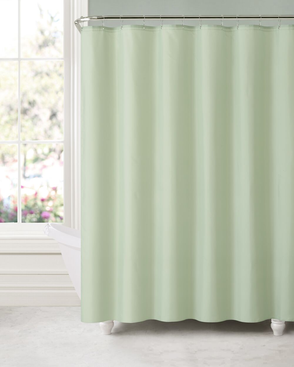 Acton Water and Mildew Resistant Shower Curtain Color: Sage Green