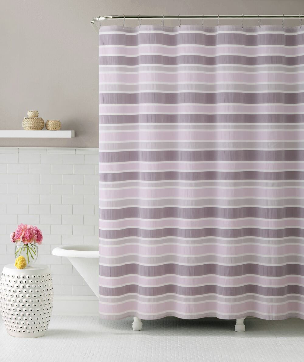 Acton Ombre Cascade Shower Curtain Color: Pink