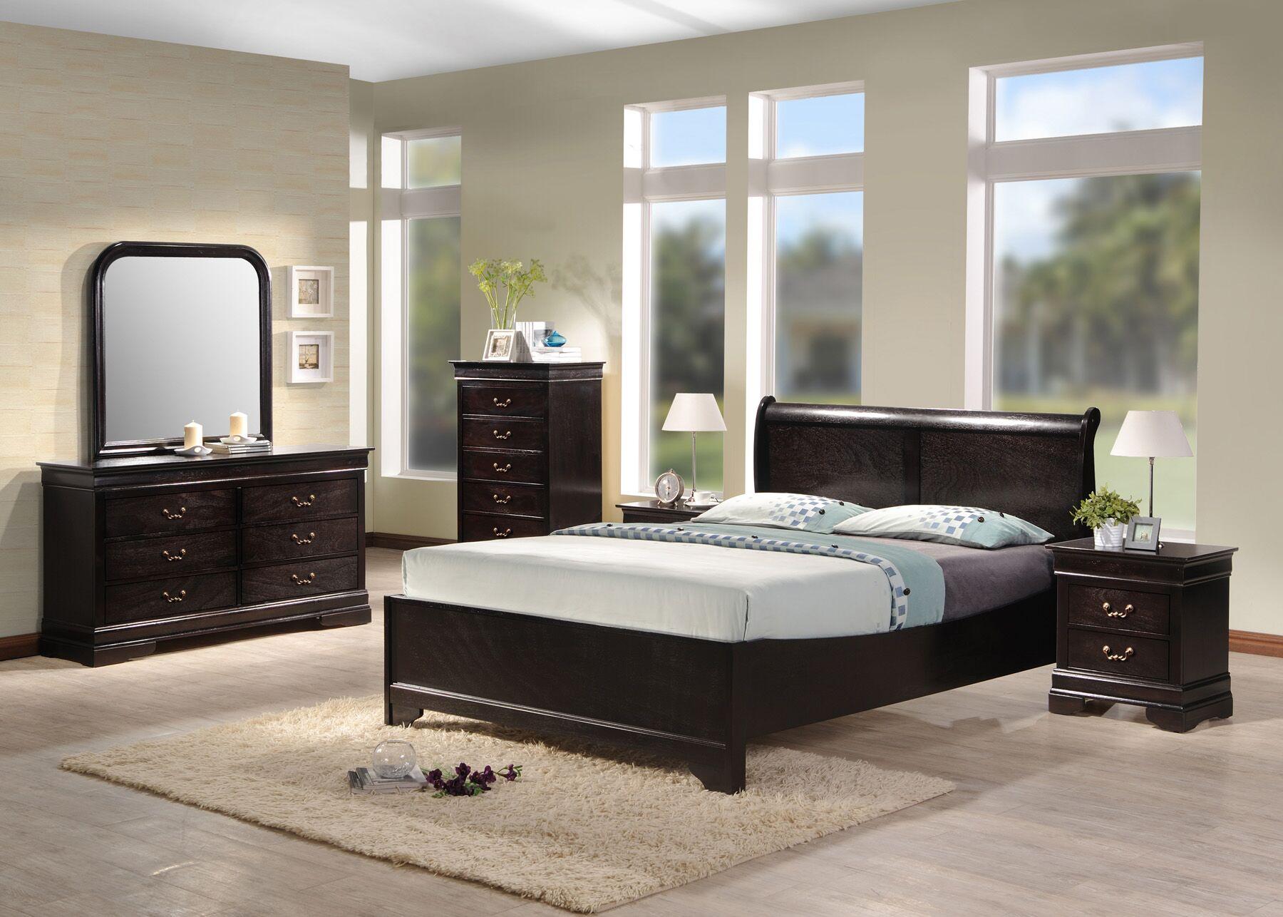 Apolonio Panel 4 Piece Bedroom Set Bed Size: Queen