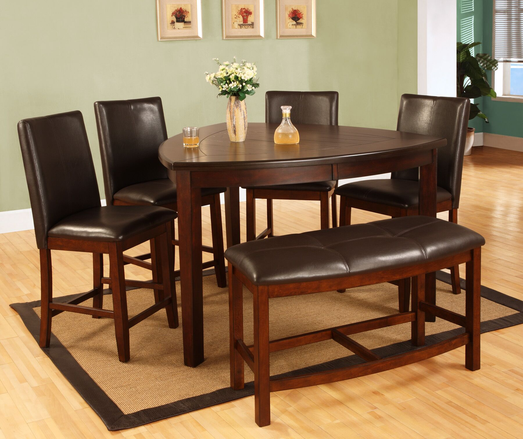 Dining Table Sets Victory 6 Piece Counter Height Solid Wood Dining Set