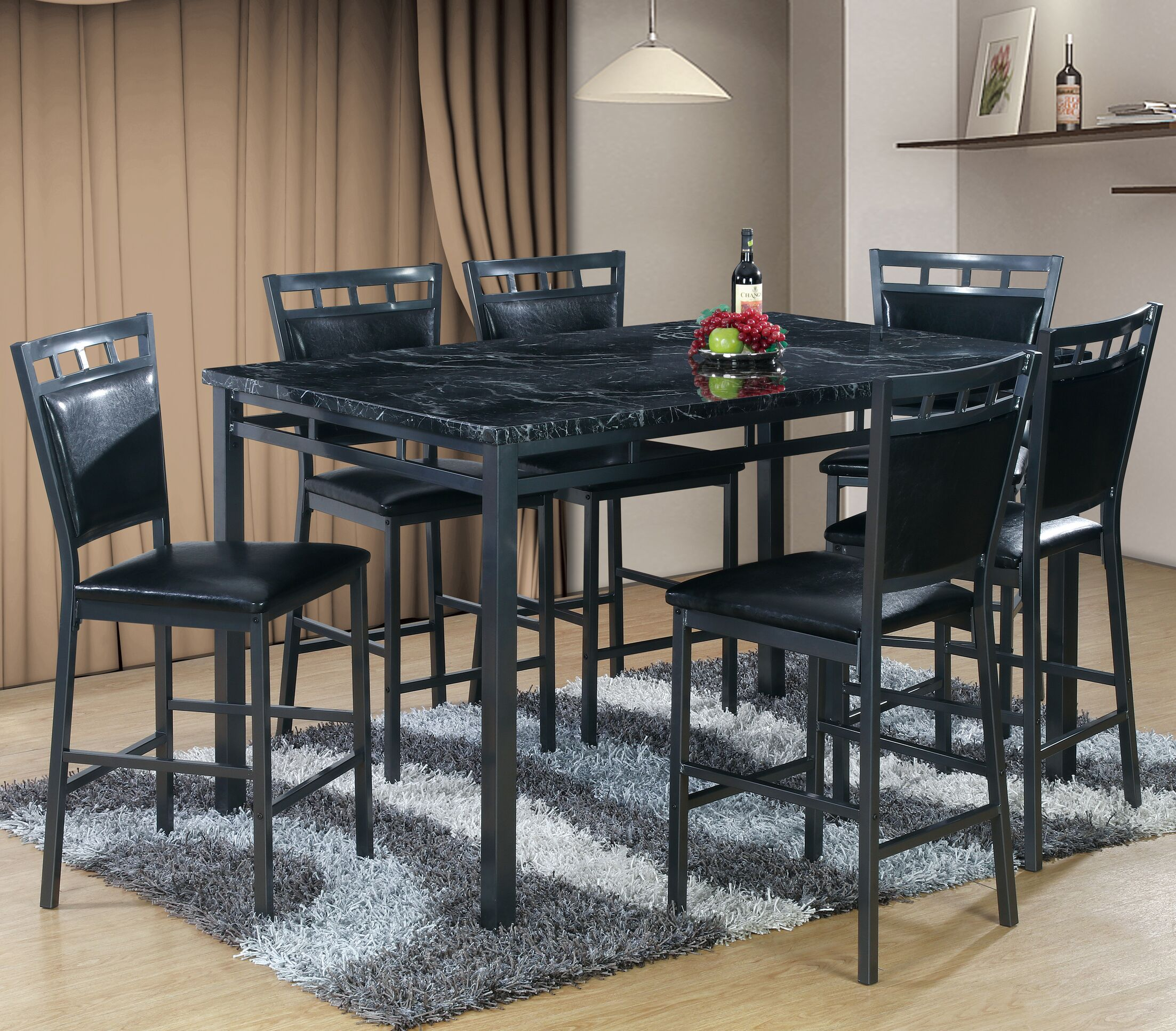 Dining Table Sets Pickerington 7 Piece Counter Height Dining Table Set