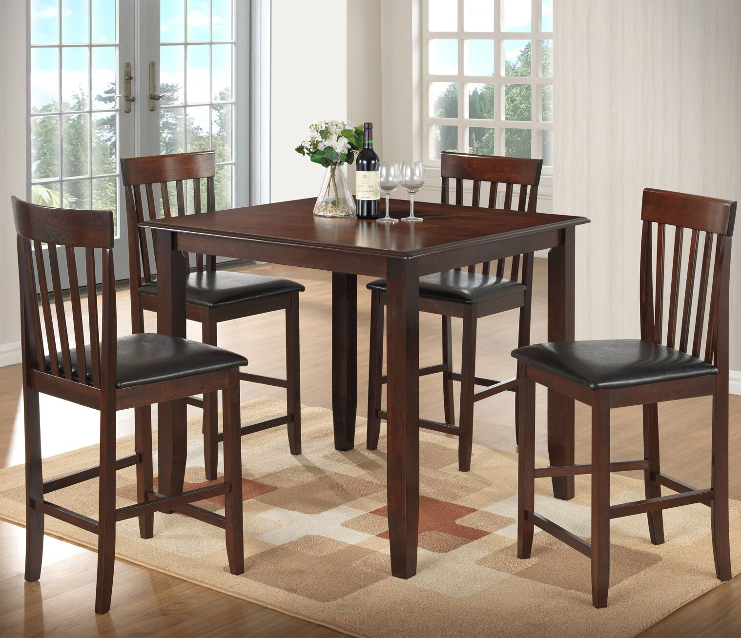 Dining Table Sets 5 Piece Counter Height Dining Set