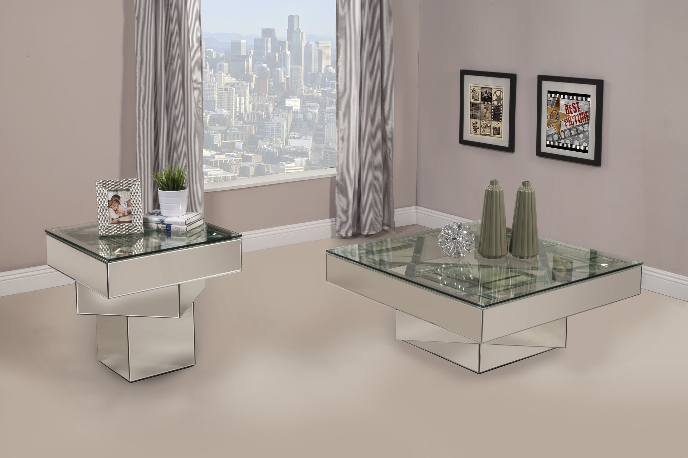 Grote 2 Piece Coffee Table Set