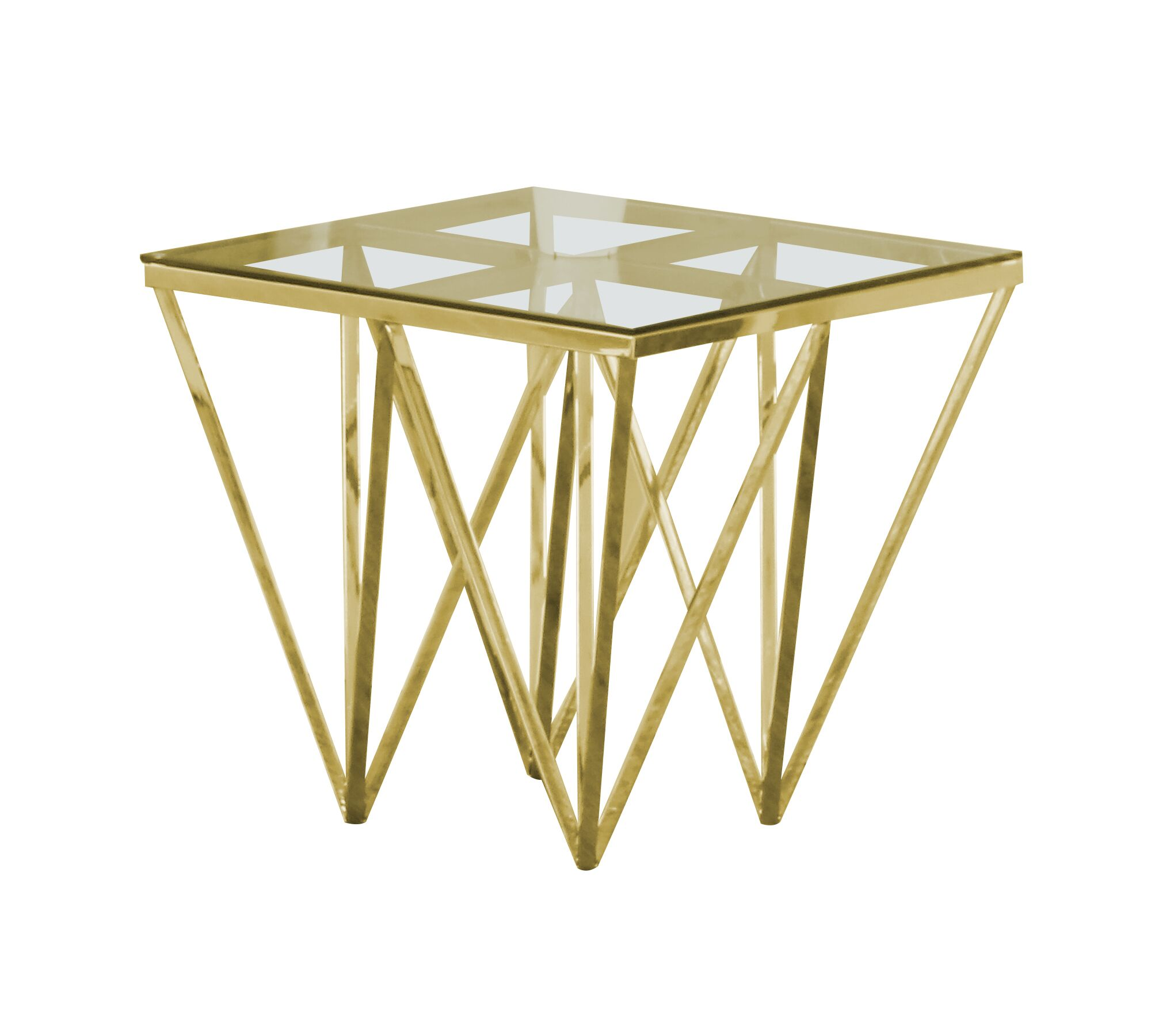 Krogman End Table Color: Gold