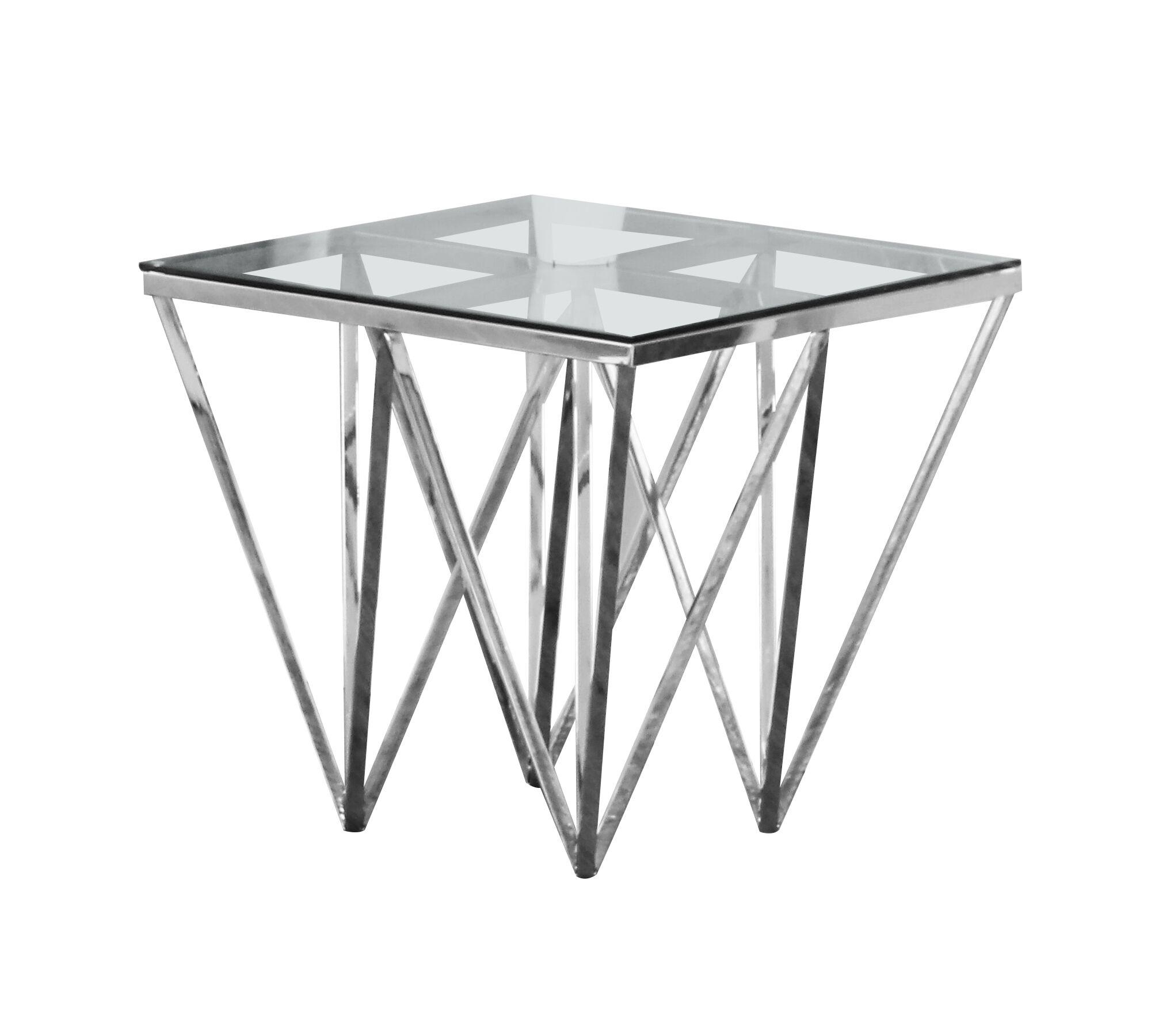 Krogman End Table Color: Silver