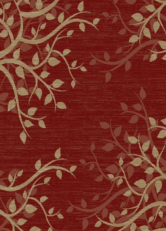 Calliope Claret Red Area Rug Rug Size: Rectangle 7'10