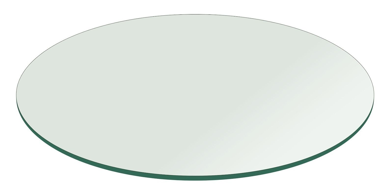 Round Flat Polished Tempered Glass Table Top Size: 30