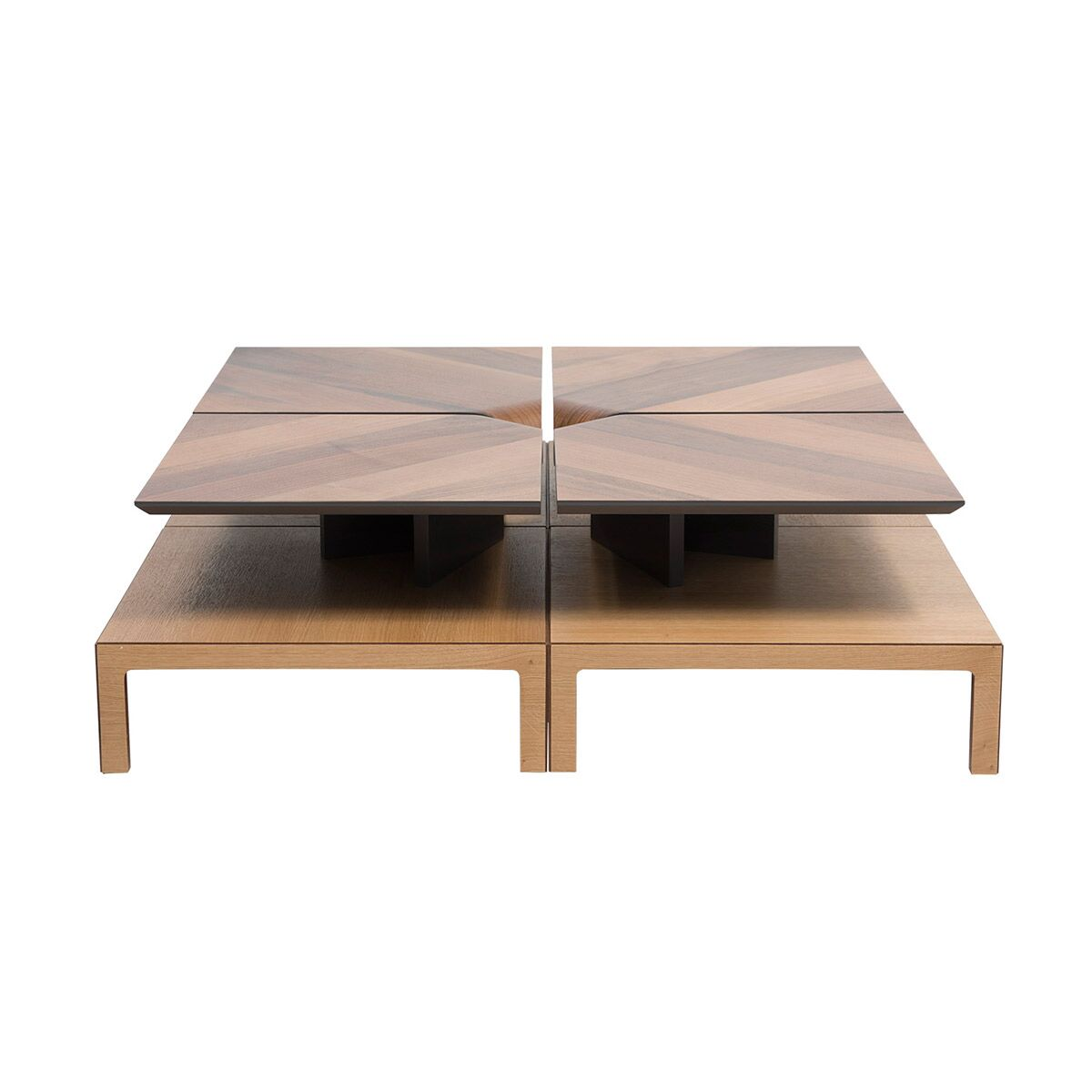 Coffee Table with Magazine Rack Table Base Color: Walnut