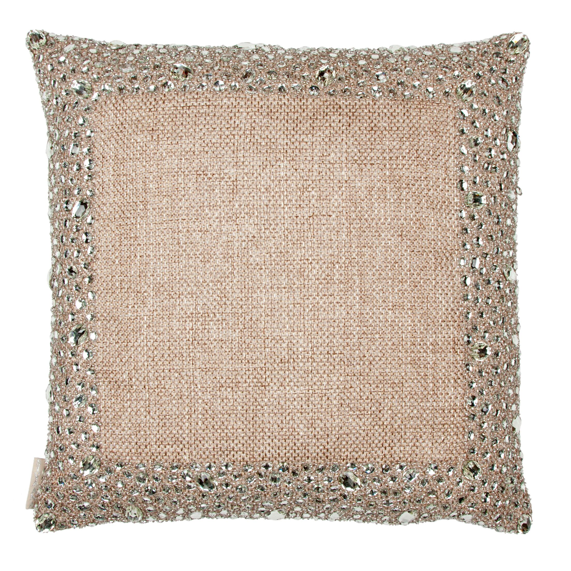Mirror Side Border Pillow Size: 13