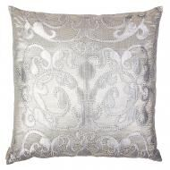 Dots with Patchwork and Swarovski Throw Pillow