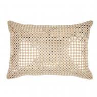 All Over Mirror Work Silk Lumbar Pillow