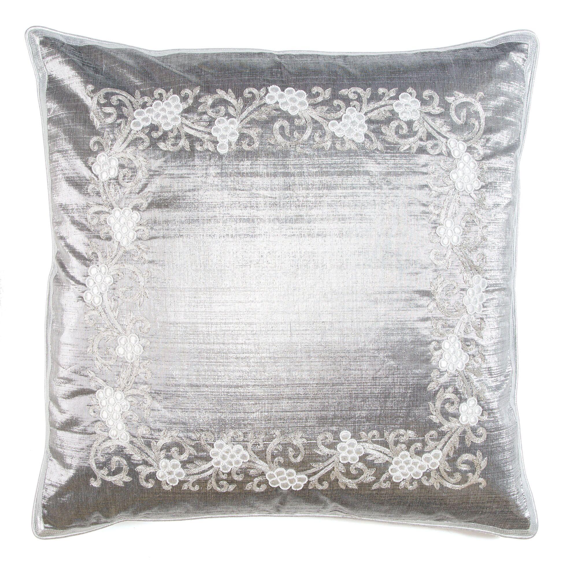 Grape Vine Border Throw Pillow