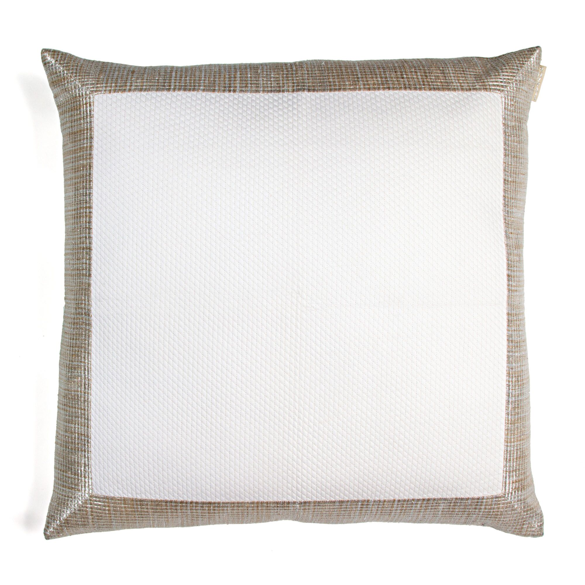 Haystack Border Cotton Throw Pillow