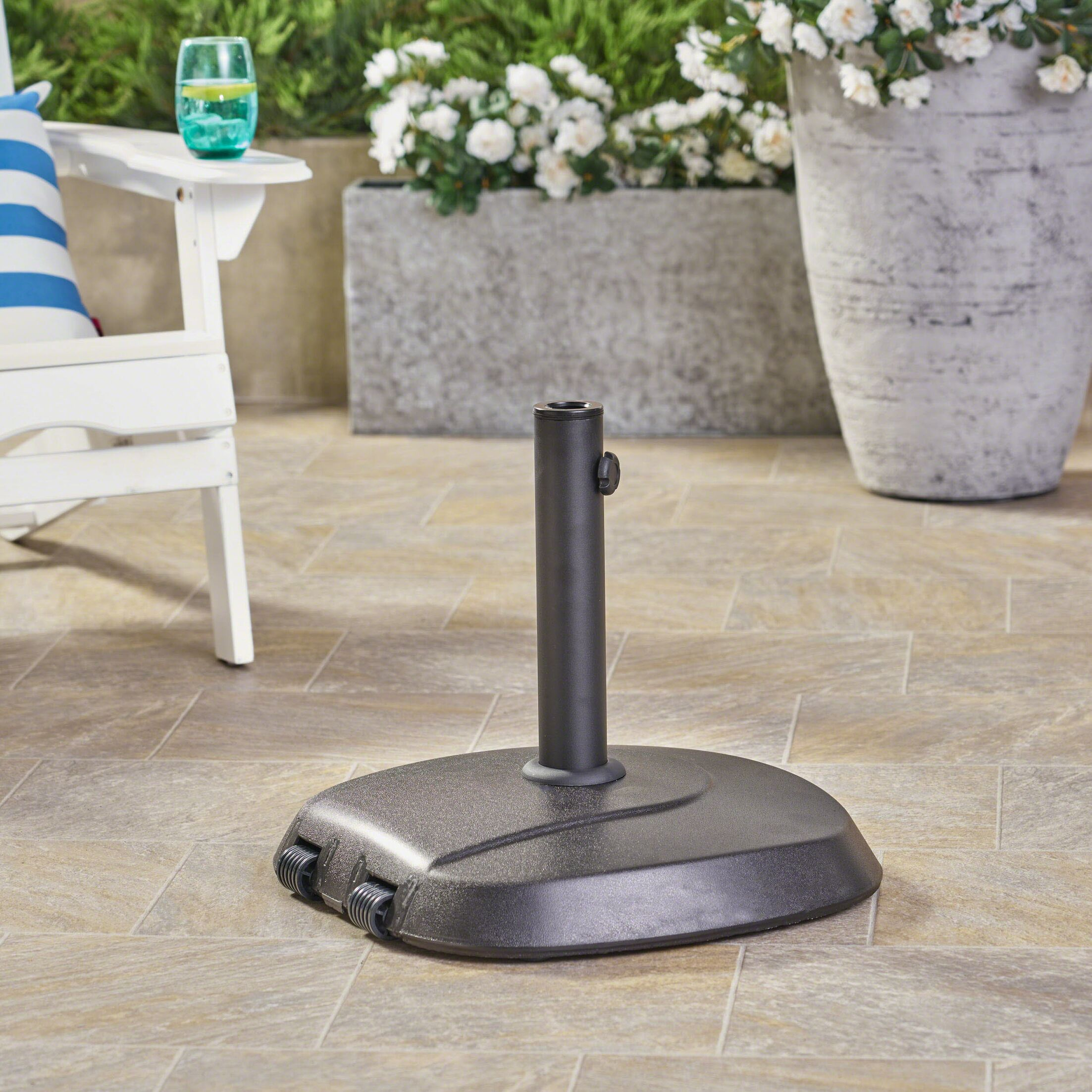 Edward Concrete Free Standing Base Finish: Black