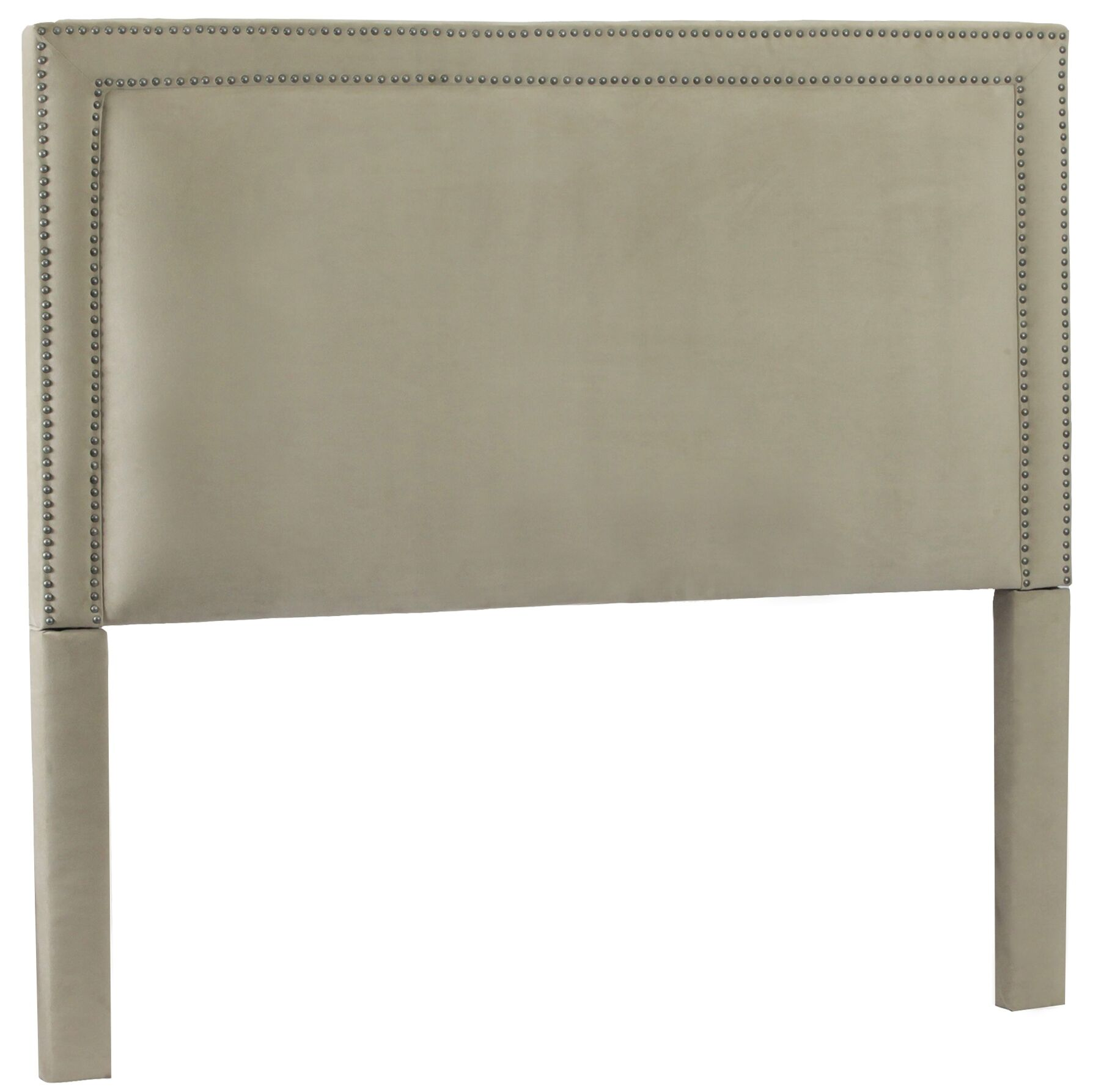 Hayley Upholstered Panel Headboard Upholstery: Avignon Charcoal / Silver, Size: Queen