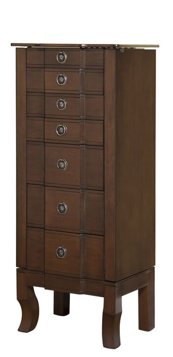 Trésor Jewelry Armoire with Mirror Color: Coffee