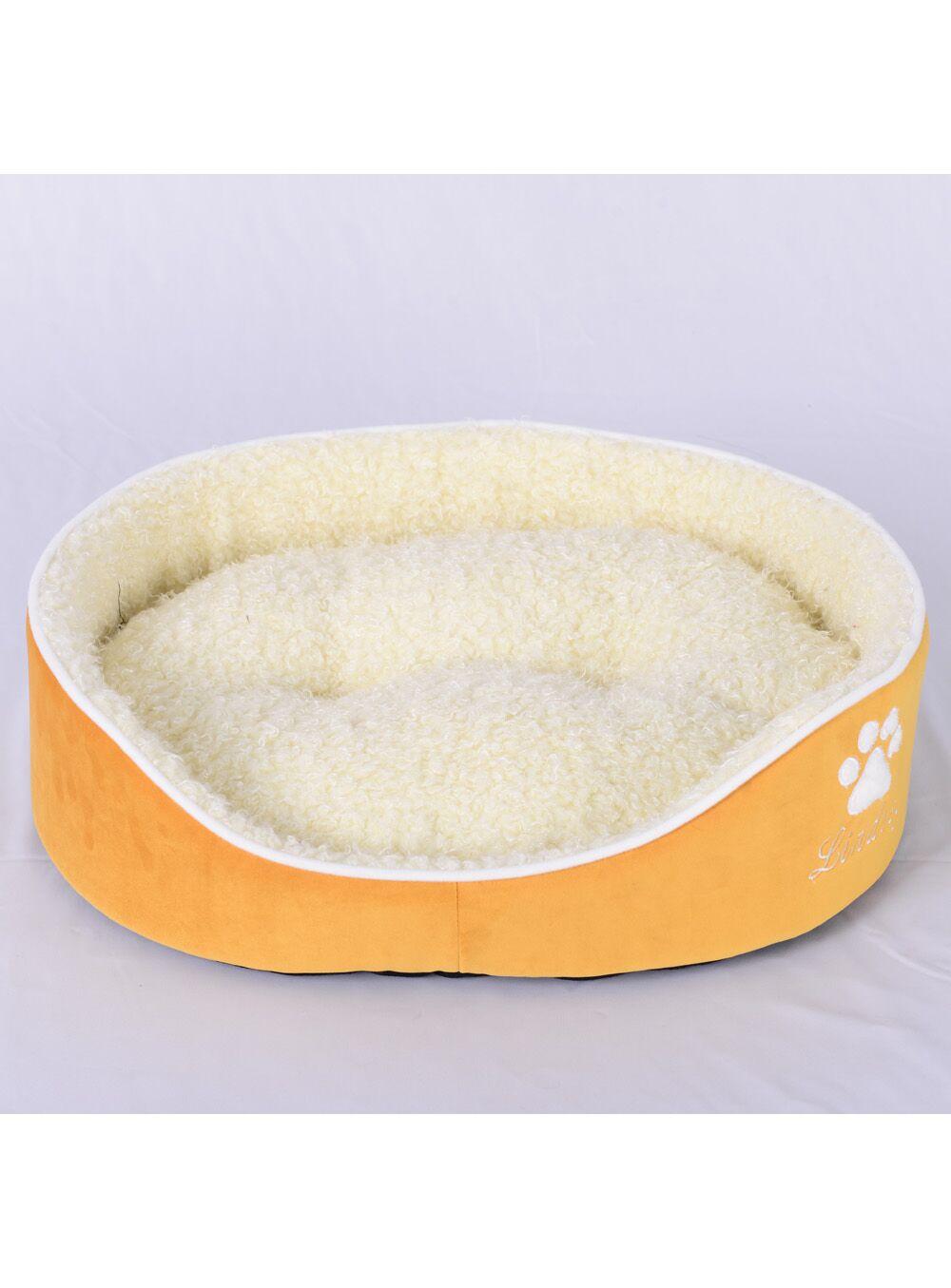 Faux Lamb Fur Dog Bed Size: Large (26