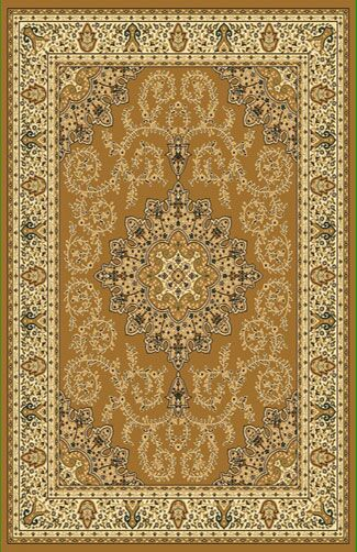 Brown Area Rug Rug Size: Round 8'