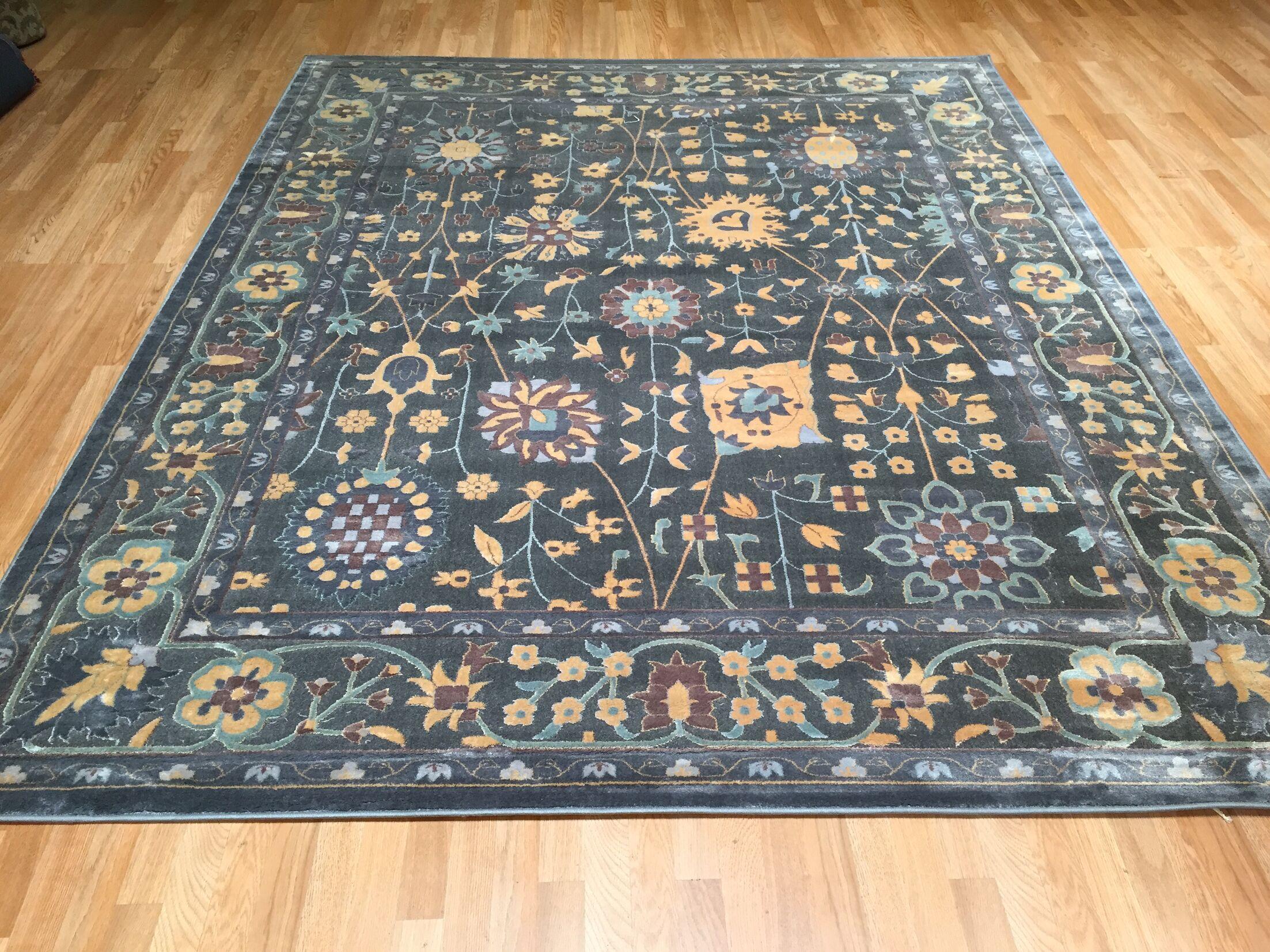 Blue Area Rug Rug Size: Rectangle 10' x 13'
